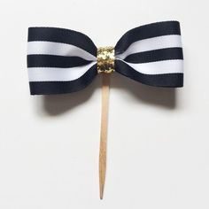 Bow Cupcake toppers. Kate Spade Inspired. by AFancyHostess on Etsy