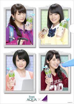 左上から時計回り:秋元真夏、生田絵梨花、衛藤美彩、生駒里奈