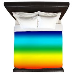 Bright Rainbow Ombre Duvet Cover