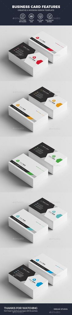 #Business #Cards - Business Cards Print Templates Download here: https://graphicriver.net/item/business-cards/19879220?ref=alena994