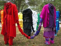 Recycling Clothing Art