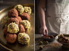 Νηστίσιμα τρουφάκια σοκολάτας με χαλβά & φιστίκι Αιγίνης - madameginger.com