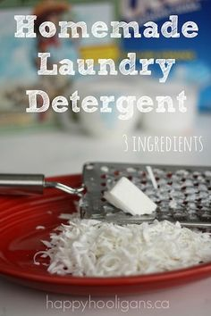 Save big with this Homemade Laundry Detergent for regular and HE washers.  Made with 3 simple ingredients.  Pennies per load - Happy Hooligans