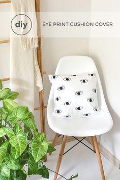 DIY eye print cushion cover
