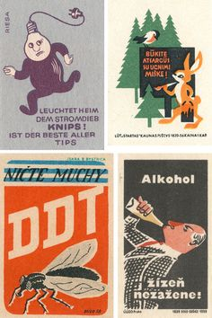 Jane McDevitt has a collection of matchbook art from mainly 1950s and 1960s Eastern Europe and shows it off on Flickr.