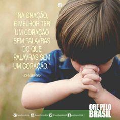 Quanto a oração....