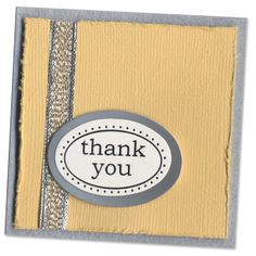 0810-Yellow Silver Thank You mini card