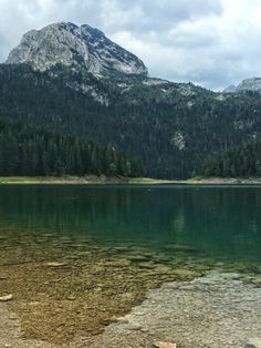 Black Lake in Durmitor National Park is an easy hike from Zabljak, Montenegro.  It's a must-see when backpacking through the Balkans on a Europe trip