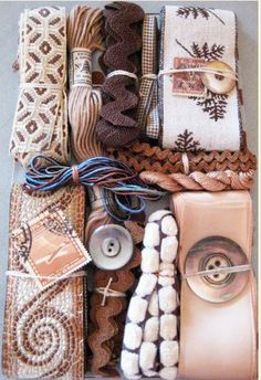 My favorite colors - brown and blue together. From: http://www.niftythriftydrygoods.com