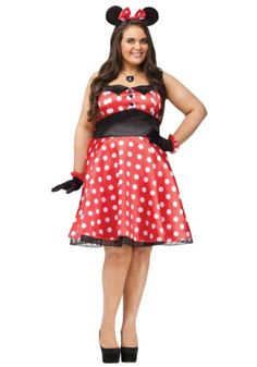 Retro Miss Mouse Costume  Plus Size 1X2X  Dress Size 1624 -- Click image to review more details.