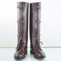 English Equestrian riding boots | ... New-Men-Equestrian-Field-Wide-Buckle-English-Horse-Riding-Boots-Size-9