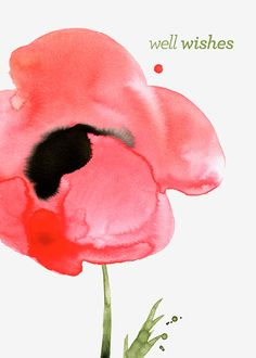 Margaret Berg Art: Get+Well+Poppy