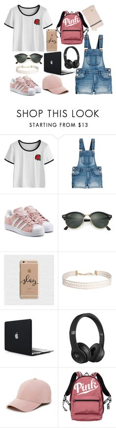 """""""Back To School Outfit"""" by lifestyleduckling ❤ liked on Polyvore featuring adidas Originals, Ray-Ban, Humble Chic, Beats by Dr. Dre, Sole Society and Victoria's Secret"""