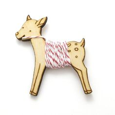 Flossy the Fawn Embroidery Floss Bobbin by sugarcookie