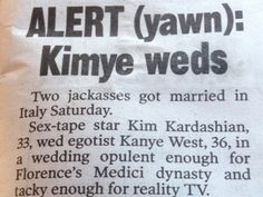 The New York Post Was Pretty Pumped About The #Kimye #Wedding