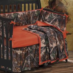 4 Piece Oak Camo Crib Set.... Sissy jerrick this has you and Kevin written all over it! Lol