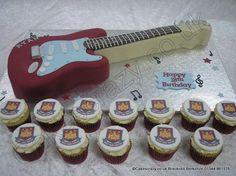 West Ham Guitar Cake  http://www.cakescrazy.co.uk/details/west-ham-guitar-cake-5583.html