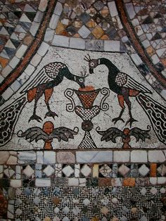 A very old-fashioned mosaic.