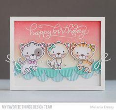 Smitten Kitten Stamp Set and Die-namics, Handwritten Happiness Stamp Set, Fringed Scallop Borders Die-namics, Blueprints 26 Die-namics, Blueprints 32 Die-namics - Melania Deasy  #mftstamps