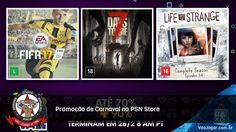 Promoção de Carnaval na PSN Store - Até 70% de desconto, 90% para membros Plus. Confiram a lista completa de jogos!