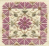Pink Buds Cross Stitch lovely design and great beginner project.Free PDF download to get you started.Easy to do..