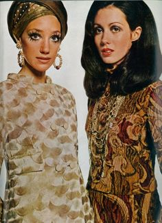 Marisa Berenson & Moyra Swann  Vogue UK, 1968.