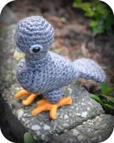 Crochet Pattern youngster / Amigurumi pattern Young Pigeon