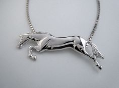 Free Jumping Horse Necklace