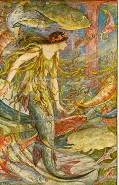 H.J. Ford - The Queen of the Fishes from The Orange Fairy Book, 1906.