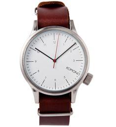 KOMONO Silver Burgundy Magnus Watch | HYPEBEAST Store. Shop Online for Men's Fashion, Streetwear, Sneakers, Accessories
