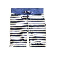Boys' board short in vintage stripe