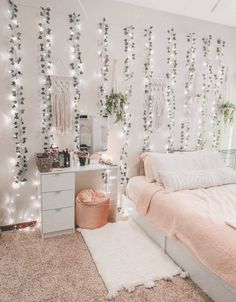 20 cute dorm room decor ideas on this page that we just love 22 Girl Bedroom Designs Cute Decor DORM Ideas love Page room Room Ideas Bedroom, Girl Bedroom Designs, Bedroom Inspo, Dream Bedroom, Dream Rooms, Bedroom Furniture, Bedroom Inspiration, Bedroom Wall, Bed Room