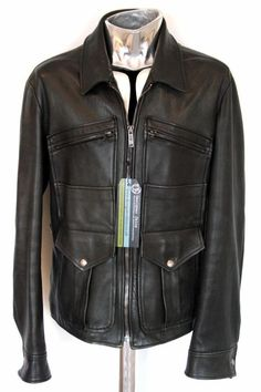 Ralph Lauren Purple Label Black Leather Jacket EU50 Medium   Large RRP£2250  coat   eBay 7c95a4cf8a