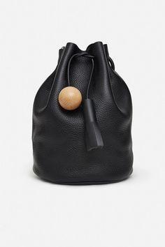 Pebble Leather Bucket Bag