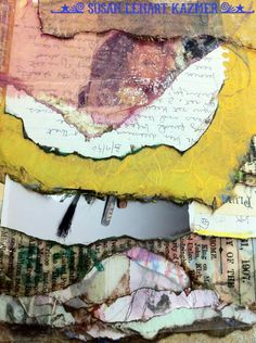 Resin, Fiber and Photgraphs: Journal Pages Close-Up