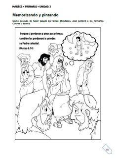 Joseph in Prison Coloring Page | joseph | Pinterest | Am ...