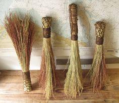 Broom corn grown on Old Field Farm in the hudson river valley, made into hand brooms. Broom Corn, Rama Seca, Earth Craft, Seasonal Decor, Fall Decorations, Budget Planer, Boho Diy, Bohemian, Finance