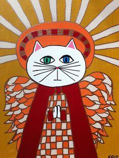Kerri Ambrosino Art PRINT Mexican Folk Art  Cat by kerriambrosino, $20.00