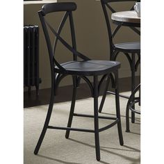 The Gray Barn Santa Rosa Metal X-Back Barstool