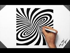 3D Spiral Optical Illusion - Speed Drawing ( How To Draw ) ( Tornado ) - YouTube