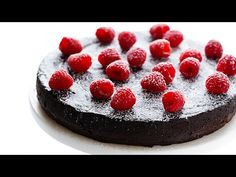 Flourless Chocolate cake recipe with only three ingredients is as easy to make as it sounds. The recipe only includes eggs, chocolate and butter. Cake Recipes, Dessert Recipes, 3 Ingredient Recipes, Flourless Chocolate Cakes, Cake Chocolate, Choc Ganache, Flourless Desserts, Chocolate Butter, Gimme Some Oven
