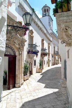 Ancient Streets Of Locorotondo Italy