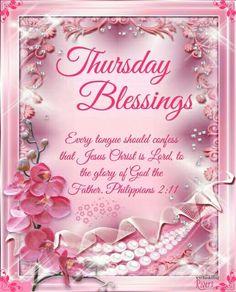 Thursday Blessings. Philippians 2:11.