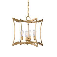 Dore 4-Light Lantern Pendant Lighting Fixture by Uttermost