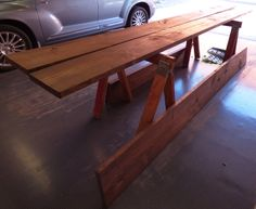 The four x boards were then stained. Darker made them look older. Contemporary Bookcase, Iron Pipe, Outdoor Furniture, Outdoor Decor, Entryway Tables, Boards, Industrial, Wood, Home Decor