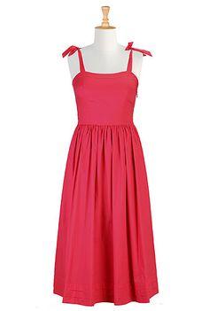eShakti Retro cotton poplin dress