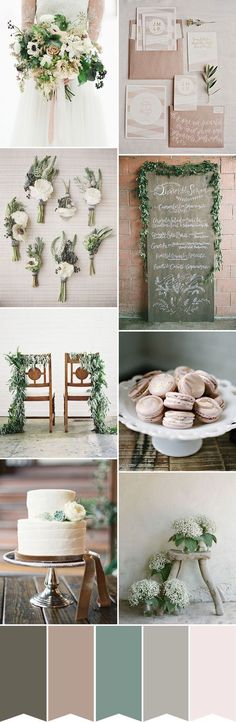 A simple and chic rustic wedding color palette