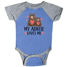 inktastic I Love My Father Pink and Blue Fox with Hearts Infant Tutu Bodysuit