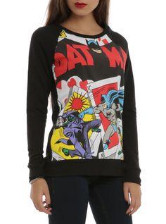 DC Comics Batman Cards Girls Pullover Top, Medium #DCComics #Pullover