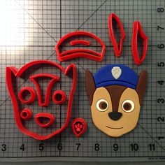 Paw Patrol – Chase Cookie Cutter Set JBCookieCutters.com customizes moldings, cookie cutters, cookie cutter, cutters, cutter, silicone mold, silicone molds, stencil, stencils, baking supplies, baking